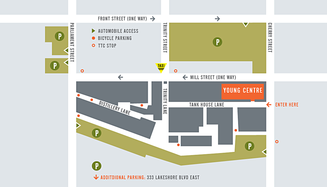Young Centre Parking Map