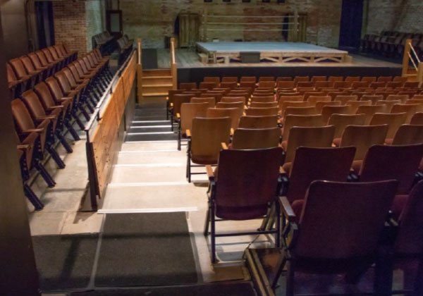Stairs down to the main level seats in the Baillie Theatre.