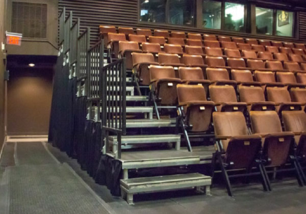 Riser stairs in the Michael Young Theatre.